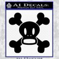 Paul Frank Skurvy Skull Decal Sticker Black Vinyl 120x120