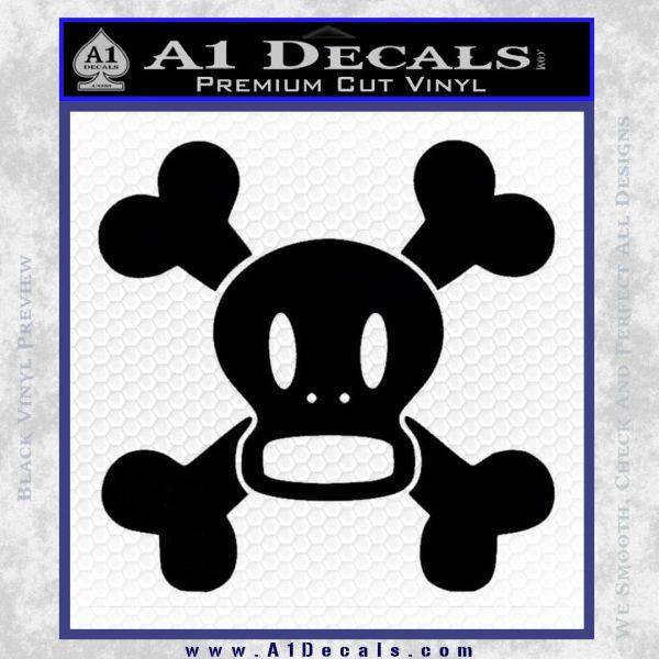 Paul Frank Skurvy Skull Decal Sticker Black Vinyl