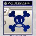 Paul Frank Skurvy Skull Decal Sticker Blue Vinyl 120x120