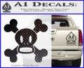Paul Frank Skurvy Skull Decal Sticker Carbon FIber Black Vinyl 120x97