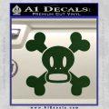 Paul Frank Skurvy Skull Decal Sticker Dark Green Vinyl 120x120