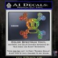 Paul Frank Skurvy Skull Decal Sticker Glitter Sparkle 120x120