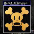 Paul Frank Skurvy Skull Decal Sticker Gold Vinyl 120x120