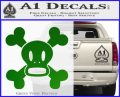 Paul Frank Skurvy Skull Decal Sticker Green Vinyl Logo 120x97