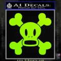 Paul Frank Skurvy Skull Decal Sticker Lime Green Vinyl 120x120