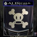 Paul Frank Skurvy Skull Decal Sticker Metallic Silver Emblem 120x120