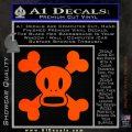 Paul Frank Skurvy Skull Decal Sticker Orange Emblem 120x120