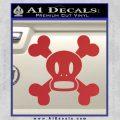 Paul Frank Skurvy Skull Decal Sticker Red 120x120