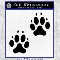 Paws Claws Decal Sticker 2 Pack Black Vinyl 120x120