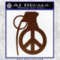 Peace Grenade Decal Sticker BROWN Vinyl 120x120
