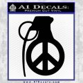 Peace Grenade Decal Sticker Black Vinyl 120x120