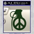 Peace Grenade Decal Sticker Dark Green Vinyl 120x120