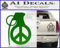 Peace Grenade Decal Sticker Green Vinyl Logo 120x97