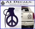 Peace Grenade Decal Sticker PurpleEmblem Logo 120x97