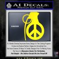 Peace Grenade Decal Sticker Yellow Laptop 120x120