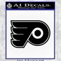 Philadelphia Flyers Decal Sticker Black Vinyl 120x120