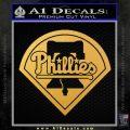 Phillies Decal Sticker Philadelphia Intricate Gold Vinyl 120x120