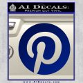 Pinterest Customizable Decal Sticker Blue Vinyl 120x120