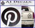 Pinterest Customizable Decal Sticker Carbon FIber Black Vinyl 120x97