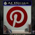 Pinterest Customizable Decal Sticker DRD Vinyl 120x120