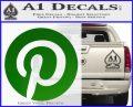 Pinterest Customizable Decal Sticker Green Vinyl Logo 120x97