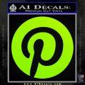Pinterest Customizable Decal Sticker Lime Green Vinyl 120x120