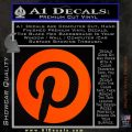 Pinterest Customizable Decal Sticker Orange Emblem 120x120