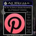 Pinterest Customizable Decal Sticker Pink Emblem 120x120