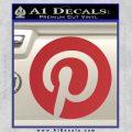 Pinterest Customizable Decal Sticker Red 120x120