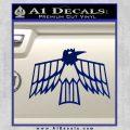Pontiac Firebird Decal Sticker Retro Blue Vinyl 120x120