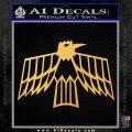 Pontiac Firebird Decal Sticker Retro Gold Vinyl 120x120