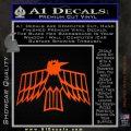 Pontiac Firebird Decal Sticker Retro Orange Emblem 120x120