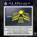 Pontiac Firebird Decal Sticker Retro Yellow Laptop 120x120