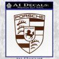 Porsche Decal Sticker BROWN Vinyl 120x120