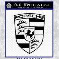Porsche Decal Sticker Black Vinyl 120x120
