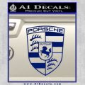 Porsche Decal Sticker Blue Vinyl 120x120