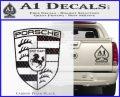 Porsche Decal Sticker Carbon FIber Black Vinyl 120x97