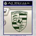 Porsche Decal Sticker Dark Green Vinyl 120x120
