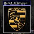 Porsche Decal Sticker Gold Vinyl 120x120