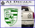 Porsche Decal Sticker Green Vinyl Logo 120x97