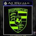 Porsche Decal Sticker Lime Green Vinyl 120x120