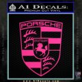 Porsche Decal Sticker Pink Hot Vinyl 120x120