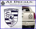 Porsche Decal Sticker PurpleEmblem Logo 120x97