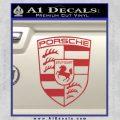 Porsche Decal Sticker Red 120x120