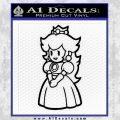 Princess Peach Decal Sticker Nintendo Black Vinyl 120x120