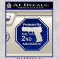 Protected By The 2nd Amendment Decal Sticker Blue Vinyl 120x120