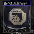 Protected By The 2nd Amendment Decal Sticker Carbon FIber Chrome Vinyl 120x120