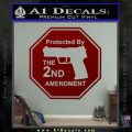 Protected By The 2nd Amendment Decal Sticker DRD Vinyl 120x120