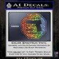 Protected By The 2nd Amendment Decal Sticker Glitter Sparkle 120x120
