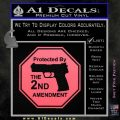 Protected By The 2nd Amendment Decal Sticker Pink Emblem 120x120